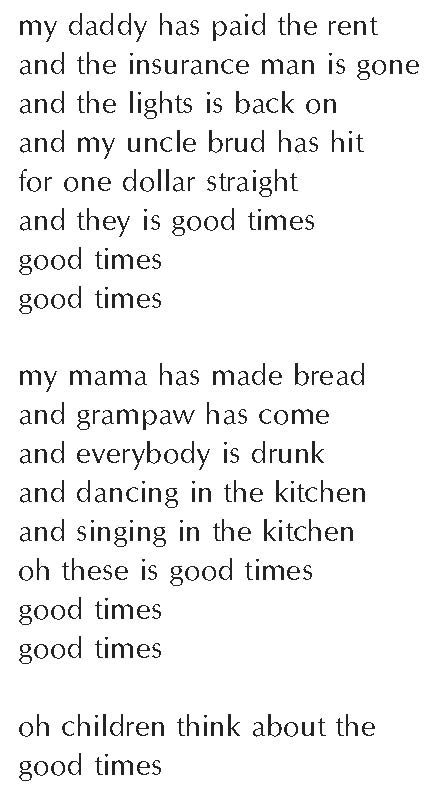 Clifton. good times. The Collected Poems of Lucille Clifton